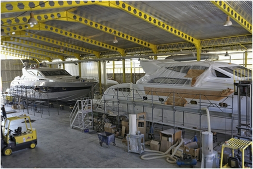 yacht manufacturers factory